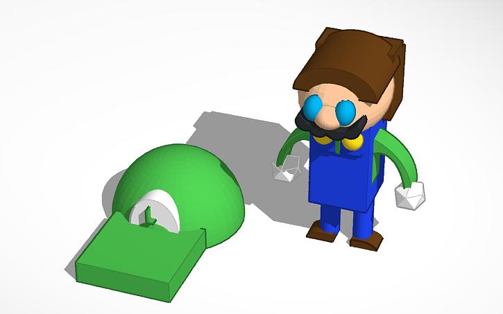 3d Design Super Mario 64 Luigi Tinkercad