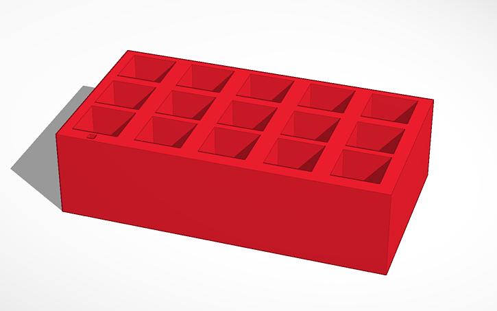3D design cuvette holder 1 25 cm X 1 25 (1 cm path length