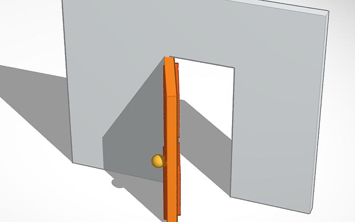 3D design wooden door | Tinkercad
