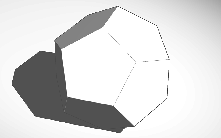 3D design Dodecahedron | Tinkercad