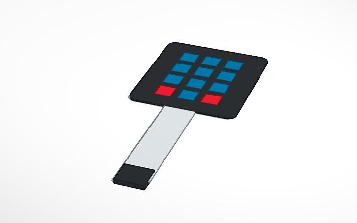 3D design Matrix Membrane Keypad from Adafruit | Tinkercad
