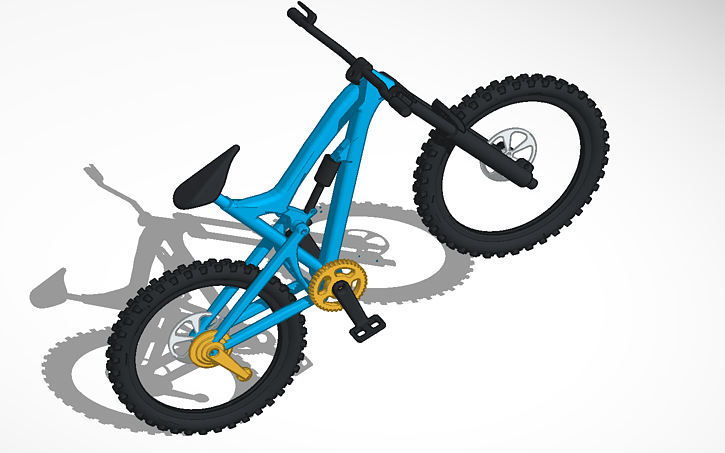Santa Cruz Nomad Mountain Bike Tinkercad