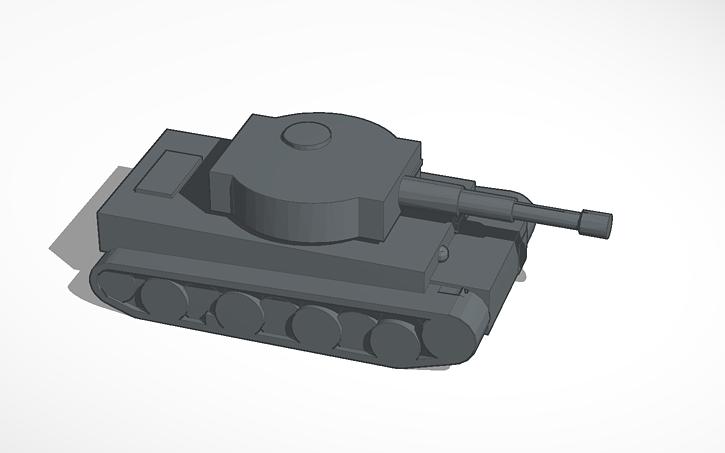 3D design Tiger Tank   Tinkercad
