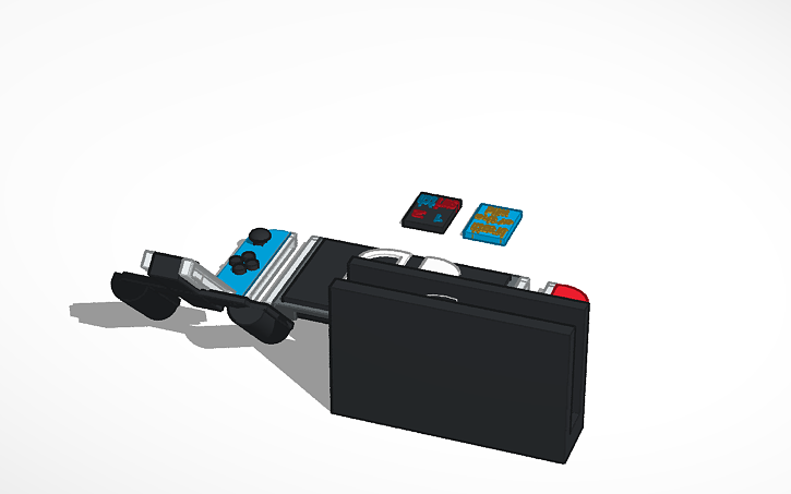 3D design Nintendo Switch with dock and joycon grip also