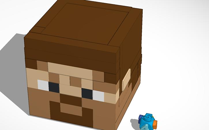 Minecraft Steve Head Tinkercad