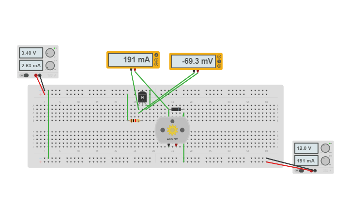 Circuit design Raspberry Pi controlled 12V fan with 2n2222