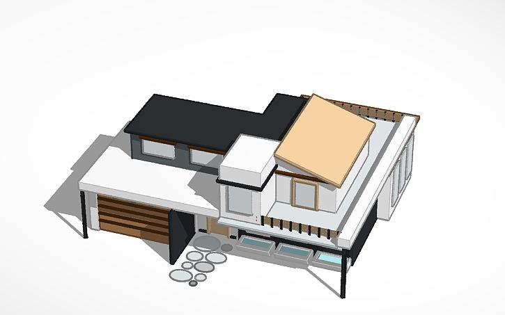 3D design Modern house   Tinkercad
