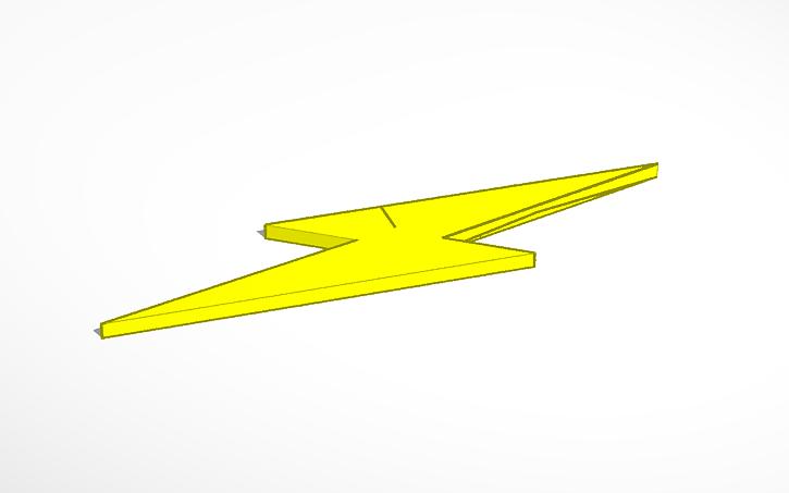how to draw a 3d lightning bolt