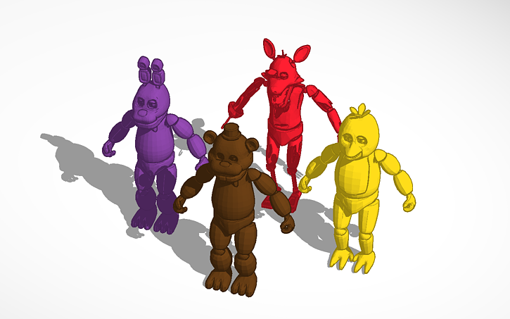 3D design Five nights at freddy's | Tinkercad