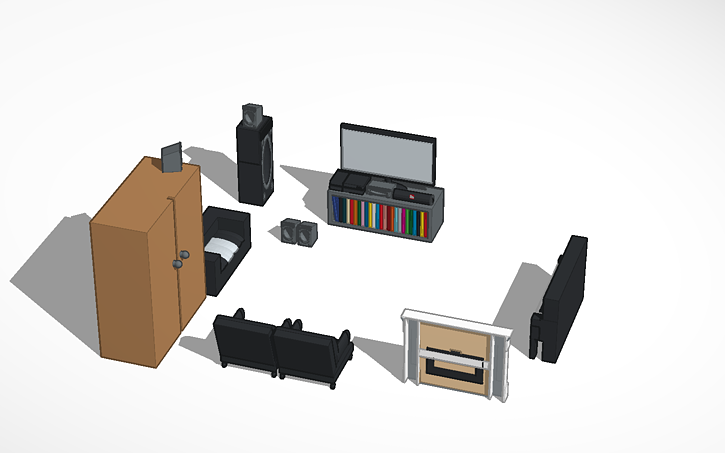 3D design woonkamer | Tinkercad
