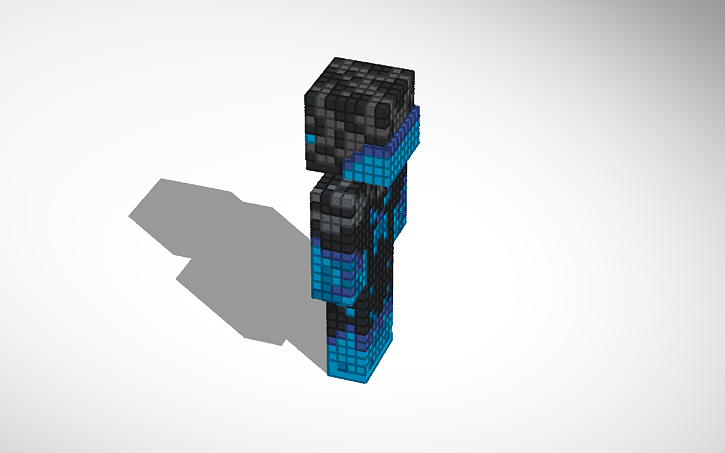 3d Design Enderman Minecraft Skin Tinkercad