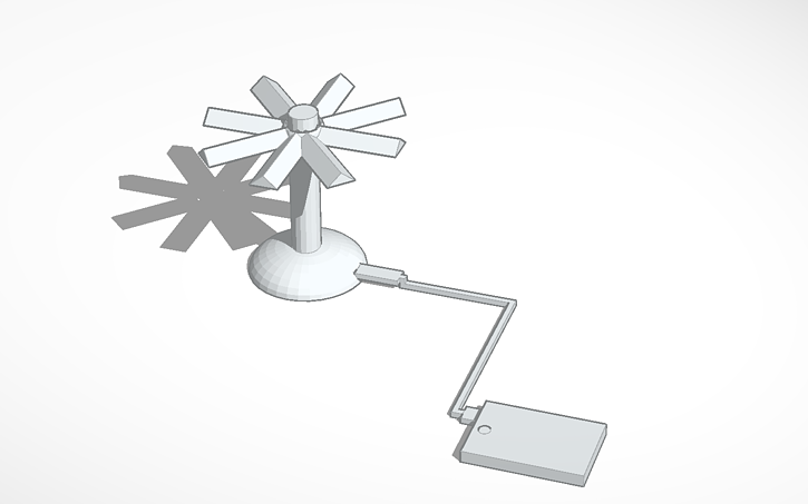 3D design 3d printed Wind Turbine that charges your phone