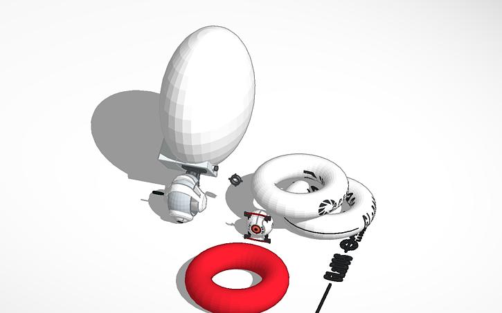 3d Design Portal 1 Glados Work In Progress Functional