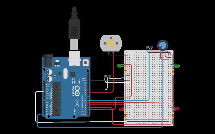 Circuit design Automatic Door Locking System | Tinkercad