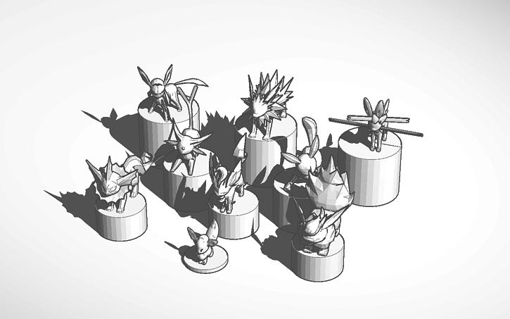 3D Design All Eevee Evolutions