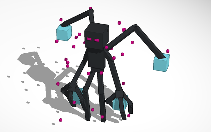 3d design minecraft mutant enderman tinkercad