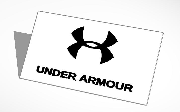 3d Design Under Armour Logo Tinkercad