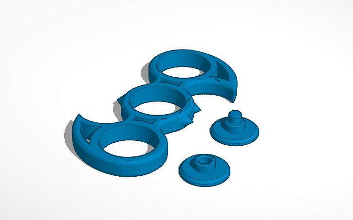 3d Design Fidget Spinner Batman Tinkercad