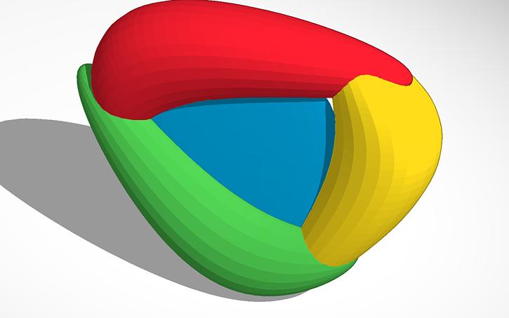 3D design chrome #logo | Tinkercad