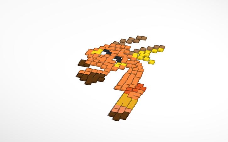 3d Design Pixel Raichu Tinkercad