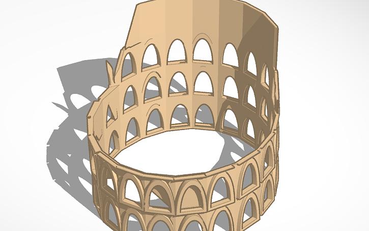 3d Design El Coliseo Romano Tinkercad