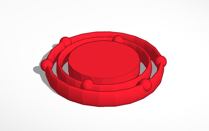 3d Design Carbon Bohr Model Tinkercad