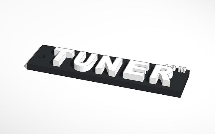 3D design Tuner JDM KeyChain | Tinkercad