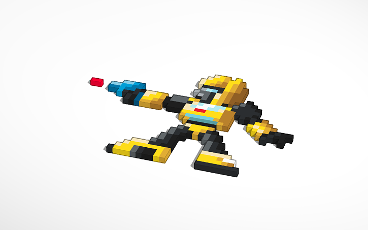 3d Design Pixelated Transformers Autobot Bumblebee Copy Of